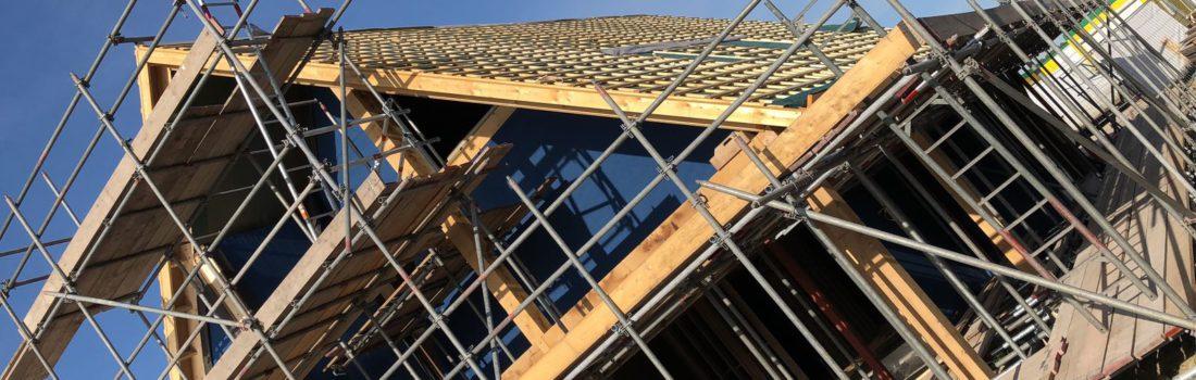 Een houtskeletbouw casco heeft hoge isolatiewaarden en is binnen enkele dagen luchtdicht en waterdicht